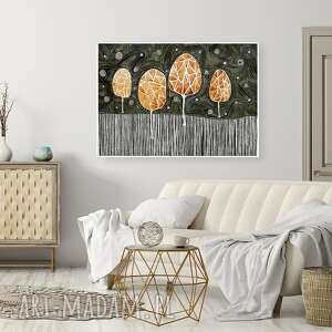 Drzewa 50x7cm malgorzata domanska drzewa, plakat, obraz