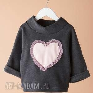 Bluza DB06G, serce, dziewczęca, wygodna, stylowa, modna