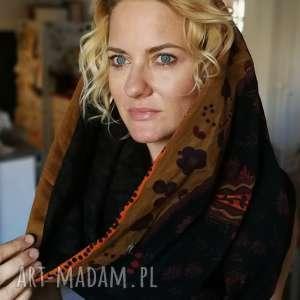 kolorowy ciepły patchworkowy komin zimowy handmade, komin, szal, etno, folk,