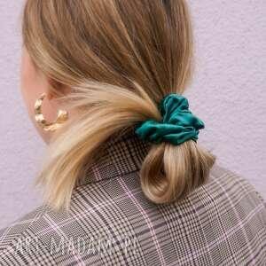gumka do włosów emerald satynowa, włosów, jedwabna gumka, stylowa