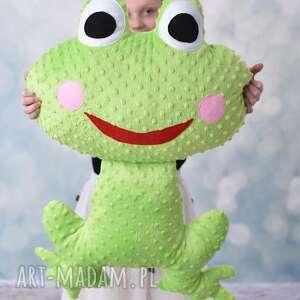 ręcznie robione maskotki poduszka dziecięca żaba