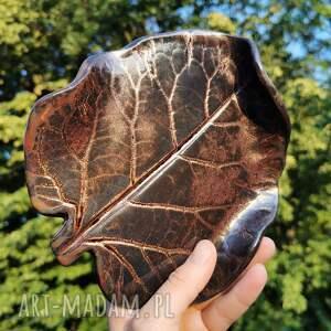 ceramika ceramiczny talerzyk liść c284, liść, podstawka, ceramiczna