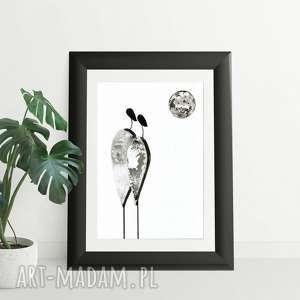 grafika grafika 30x40 cm wykonana ręcznie, plakat, abstrakcja, elegancki minimalizm, obraz do salonu