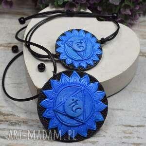 komplet biżuterii vishuddha - wisiorek i bransoletka czakry gardła, biżuteria