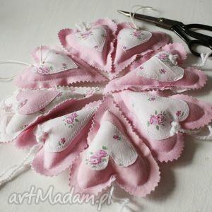 dekoracje serce różowe, serce, aplikacja, bawełna, miłośc, wyjątkowy prezent
