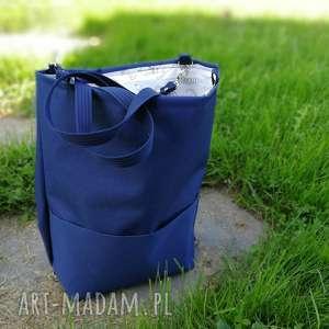 Plecako torebka cordura granatowa zapetlona nitka plecak