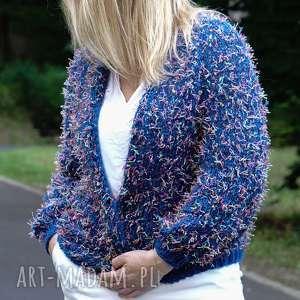 letni kardigan z kolekcji kolorowy ptak blue, kardigan, sweter, prezent, lato