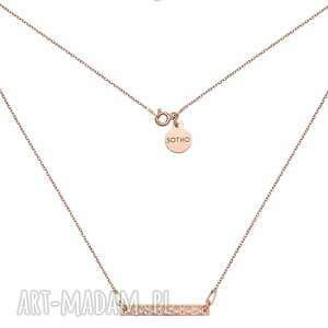 hand made naszyjniki naszyjnik z chropowatą blaszką z różowego złota