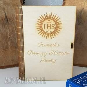 dla dziecka drewniane pudełko na pismo święte, drewniana skrzynka