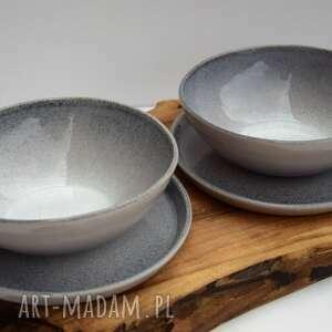 Zestaw ceramiczny - 2 miseczki talerzyki ceramika tyka ceramika