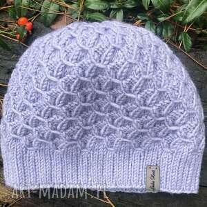czapka uncut diamond, ciepła czapka, wełna akryl, damskie, na drutach