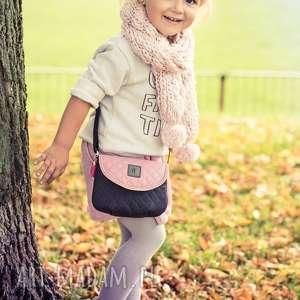 torebka dla dziewczynki 244 sweet love czarno-różowa, torebeczka, dziecinna