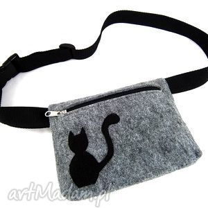 handmade nerki waist pouch with cat