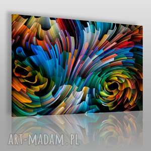 napis na płótnie - wir kolory 150x100 cm 13101/150x100, wir, abstrakcja, nowoczesny