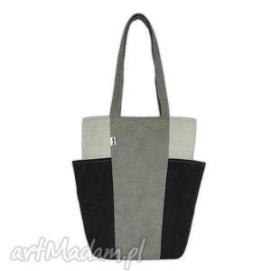 2419798476a773 wyraziste na ramię, torebki - torba na2 duża na a4 szary fiolet