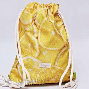 ręcznie wykonane workoplecak wodoodporny, worek plecak, torba na plecy, ze sznurami