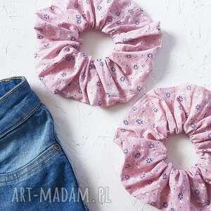 ręcznie zrobione ozdoby do włosów scrunchie frotka gumka z materiału