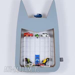 Półka na książki zabawki HERO ecoono | szary, półka, chłopiec, dziewczynka, organizer