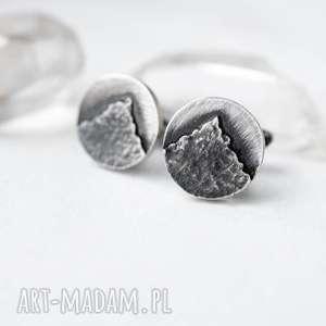 Prezent Spinki z górami , spinki-do-mankietów, ręcznie-zrobione, prezent, srebro