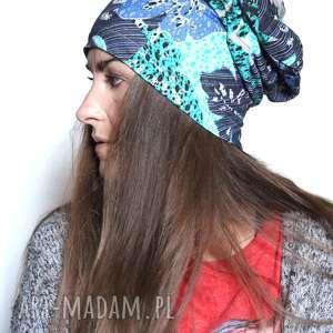 dzianinowa czapka mała damska, wzory, morska, czapka, smerfetka, sportowa
