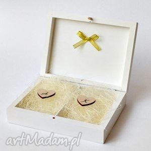 Pudełko na obrączki ślubne, pudełkonaobrączki, wesele, paramłoda, eleganckiepudełko