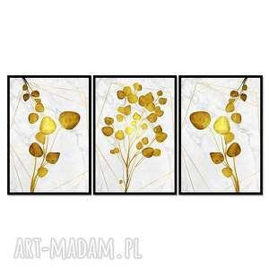 Obrazy w ramie liść 1r - 126x60cm na płótnie kwiaty zestaw