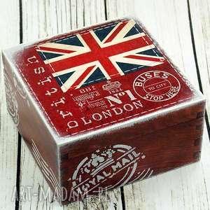 szkatułka na biżuterię/bibeloty - londyn, anglia, flaga, miasto, dfrewno