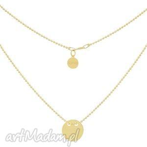 złoty naszyjnik z pełnym kołem symbolizującym - krótki