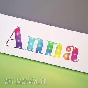 napis led neon twoje imię personalizowany prezent urodziny roczek narodziny