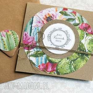 ręcznie robione kartki kaktus(i)owa kartka urodzinowa:d