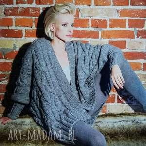 sweter bari, sweter, kardigan, blezer, warkocze, wełniany, dziergany