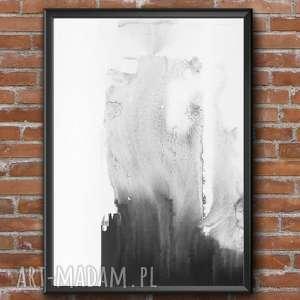 handmade dodatki grafika czarno-biała, plakat a3, ręcznie malowane, minimalizm