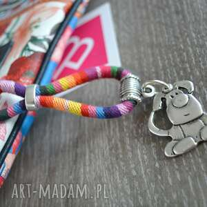 Brelok boho rainbow z psem breloki beezoo do kluczy, styl boho