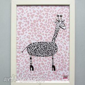giraffe, panterka, żyrafa, dziecko, plakat, grafika, centki plakaty