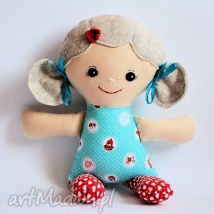 cukierkowa lala - janina, lalka, czerwony, kapturek, szmacianka, roczek