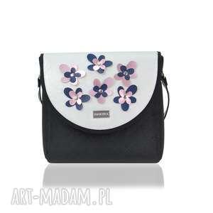 ręcznie wykonane torebki torebka puro classic 2304 flower decoration silver