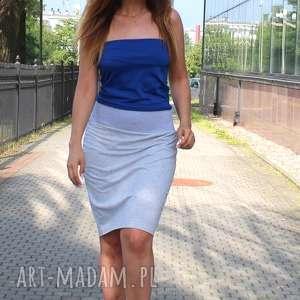 ręcznie zrobione spódnice dresowa ołówkowa spódnica z szerokim