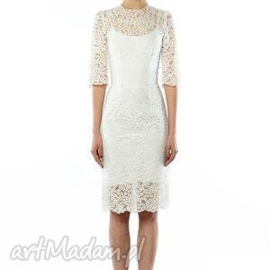 koronkowa sukienka ślubna, koktajlowa, koronkowa