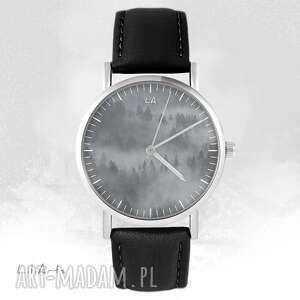 zegarki zegarek - wild life czarny, skórzany, unisex, zegarek, pasek