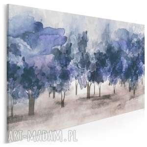 obraz na płótnie - drzewa obłoki niebieski 120x80 cm 88201, drzewa