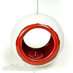LAMPION Sphere wisząca ceramiczna kula na tealight, lampion, świecznik, ceramiczny
