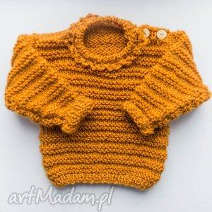 SWETEREK DZIEWCZĘCY HONEY 0-18 M, sweter, dziewczęcy, niemowlęcy, wełniany