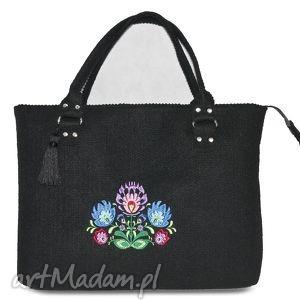 torebka filcowa z kwiatami, torebka, torba, teczka, filc