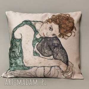 Poszewka na mała poduszkę (jasiek) - Schiele, jasiek, poduszka, schiele, portret