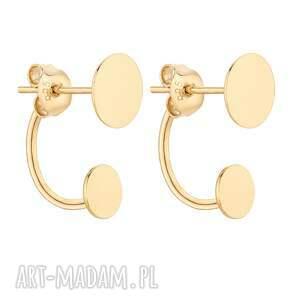 sotho złote kolczyki z karmami - pozłacane eleganckie, srebro
