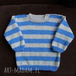 sweterek pasiaczek, sweterek, rękodzieło, włóczka, dziecko, ciepły