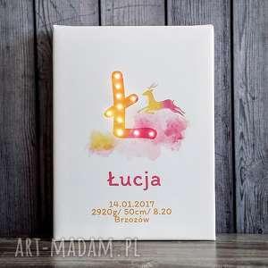 handmade dla dziecka świecąca metryczka dla dziecka imię prezent narodziny chrzest