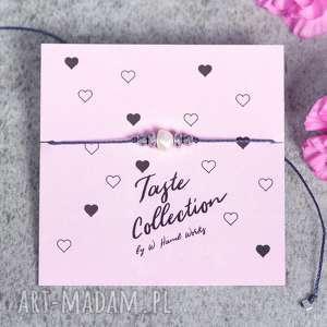 whw taste pearl v, sznurkowa, sznureczkowa, delikatna, makrama, perła, hematyt