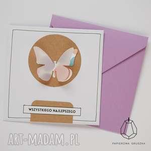 unikalny, kartka z motylkiem, kartka, urodzinowa, urodziny, dziecko, motylek