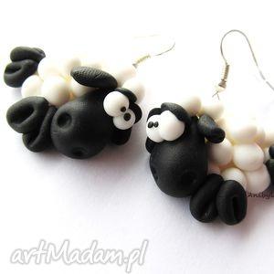 ręcznie wykonane kolczyki kolczyki dwie owieczki
